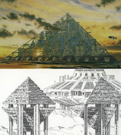 illustrations of a typical arcology