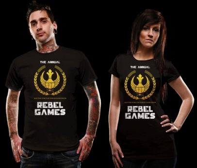 Rebel Games t-shirt - a Hunger Games / Star Wars mashup