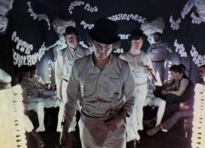 still-of-malcolm-mcdowell,-warren-clarke-and-james-marcus-in-a-clockwork-orange